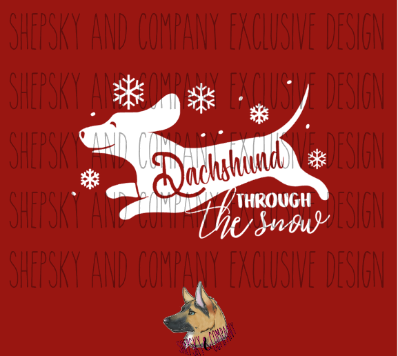 Design Only: Dachshund through the snow