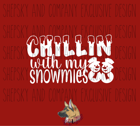Design Only: Chillin with my Snowmies