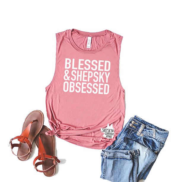 Blessed and (Breed) Obsessed Muscle Tank
