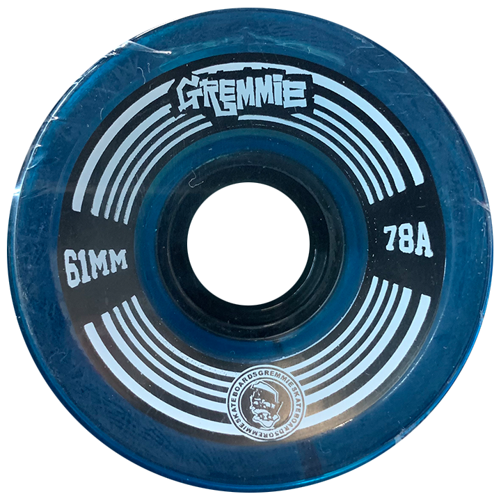GREMMIE Wheels | Blue Transparent | 61MM 78A