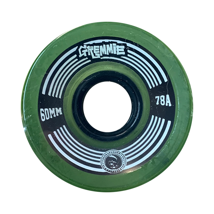 GREMMIE Wheels | Green Transparent | 60MM 78A