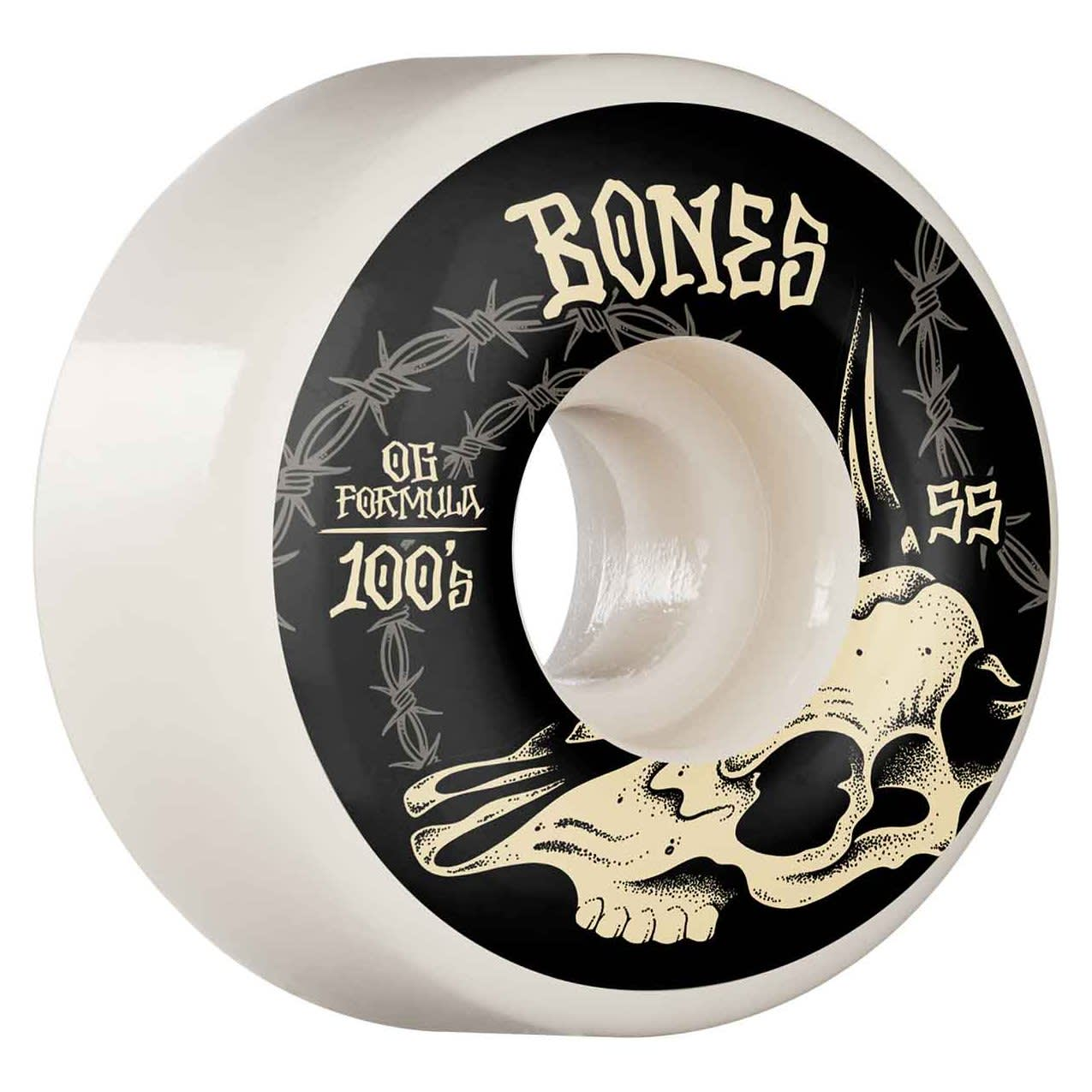 Bones Wheels Desert Skull V4 Wide OG 100a 55mm