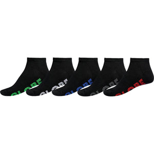 Globe Stealth Ankle Sock 5 Pack Black
