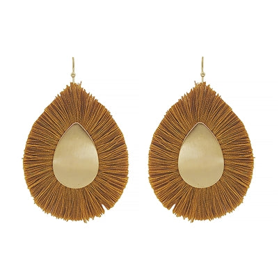 Jewelry Earrings Mustard Fringe  Earrings