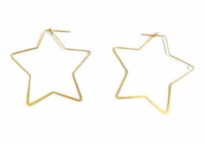 Jewelry Gold Star Earrings