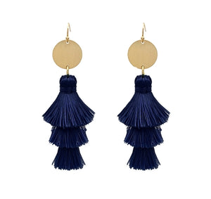 Jewelry Navy Fringe Earring