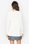 Side Slit Sweater- Color Cream