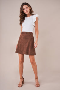 Targan Suede Skirt