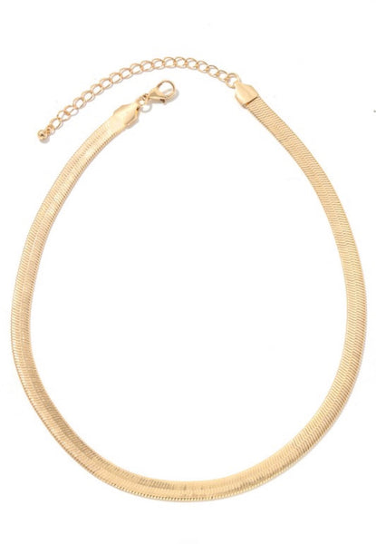 Noya Gold Herringbone Necklace