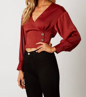 Emily Long Sleeve Button Blouse
