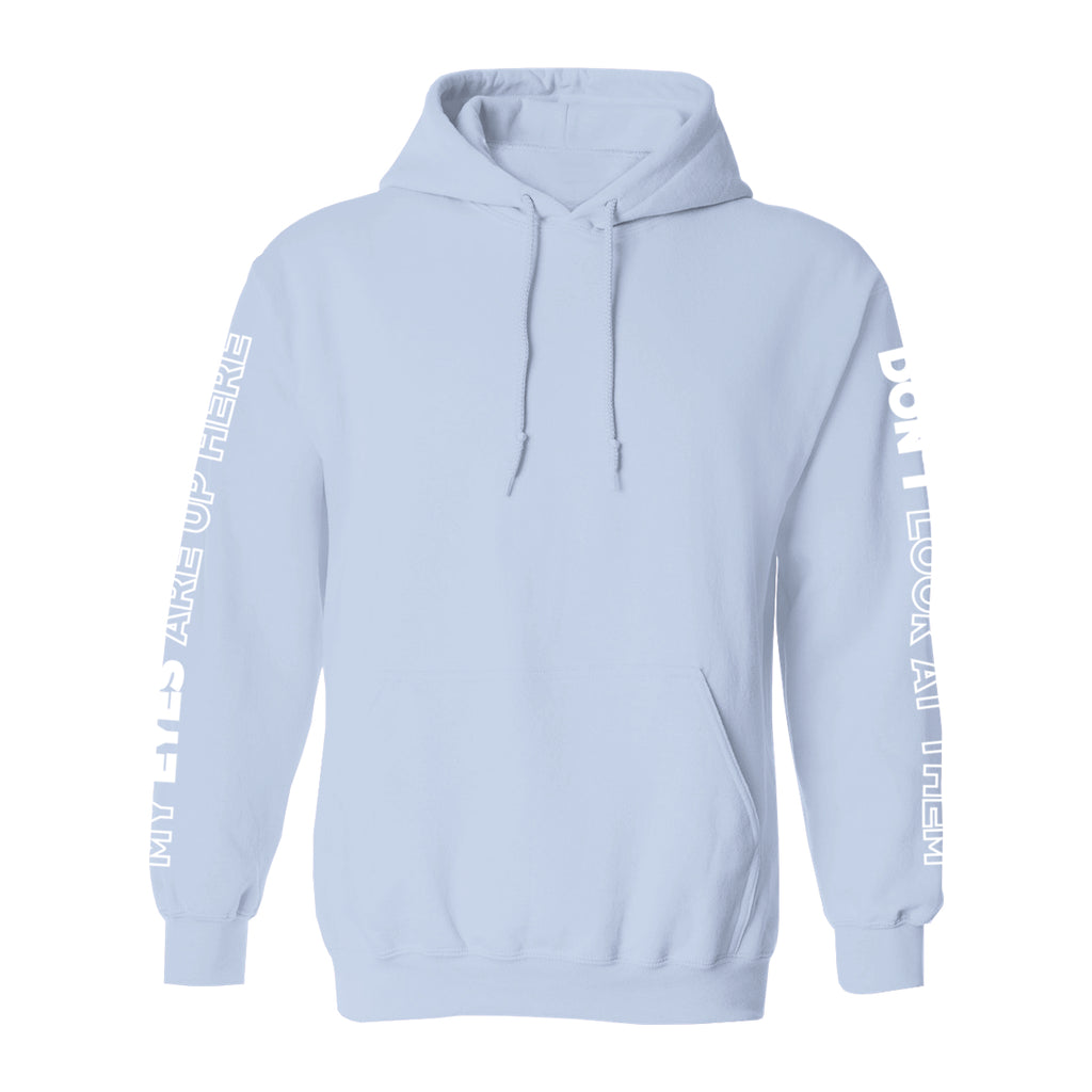 Miiasaurous My Eyes Are Up Here Hoodie