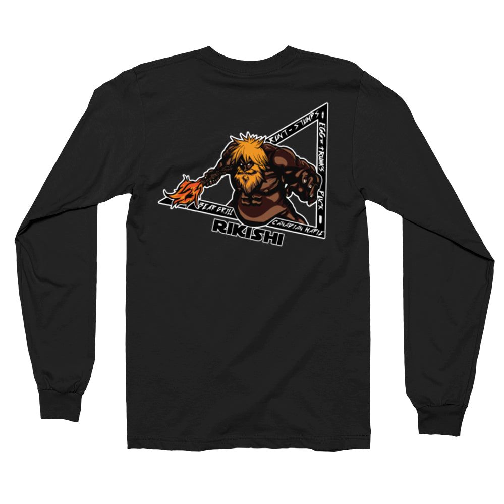 Faceless Rikishi Long Sleeve Shirts (Back Print Only)