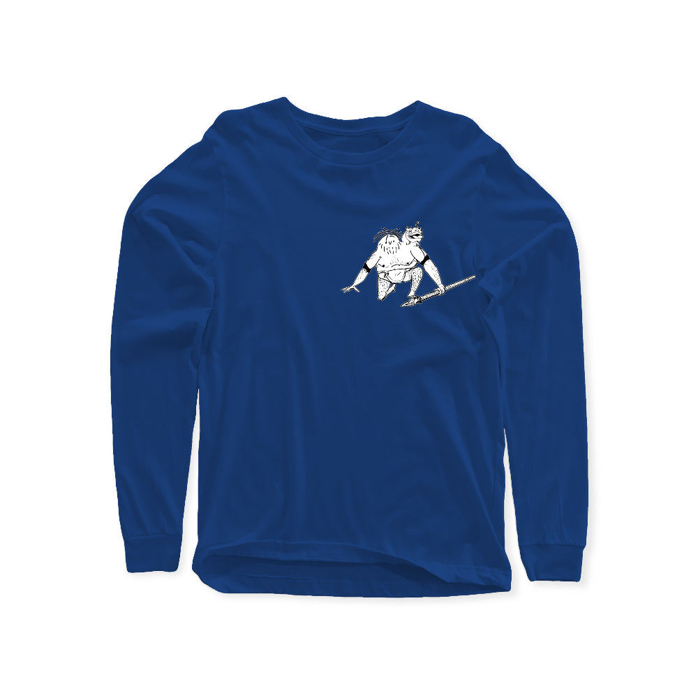 Faceless Mutt Senior Long Sleeve Shirts (Front Print Only)