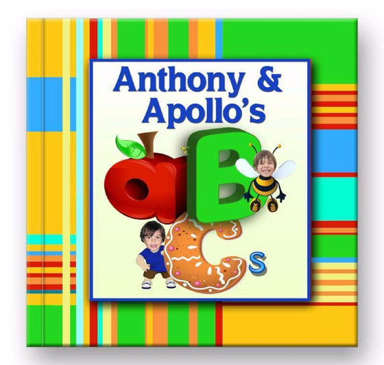 personalized abc book for 2 children