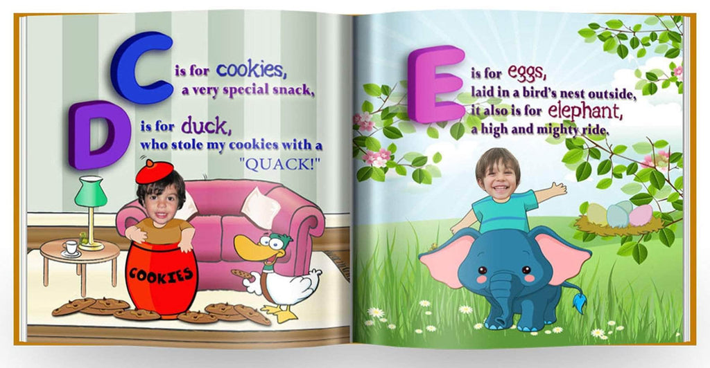 personalized ABC book for siblings preview