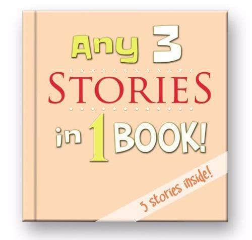 3 stories in 1 book personalized children's  bedtime collection