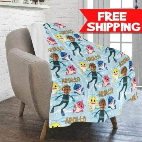 baby shark blanket for kids free shipping