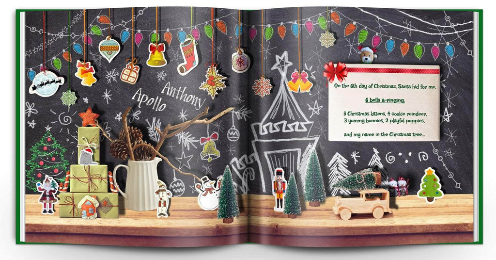 personalized storybook for christmas with 2 children