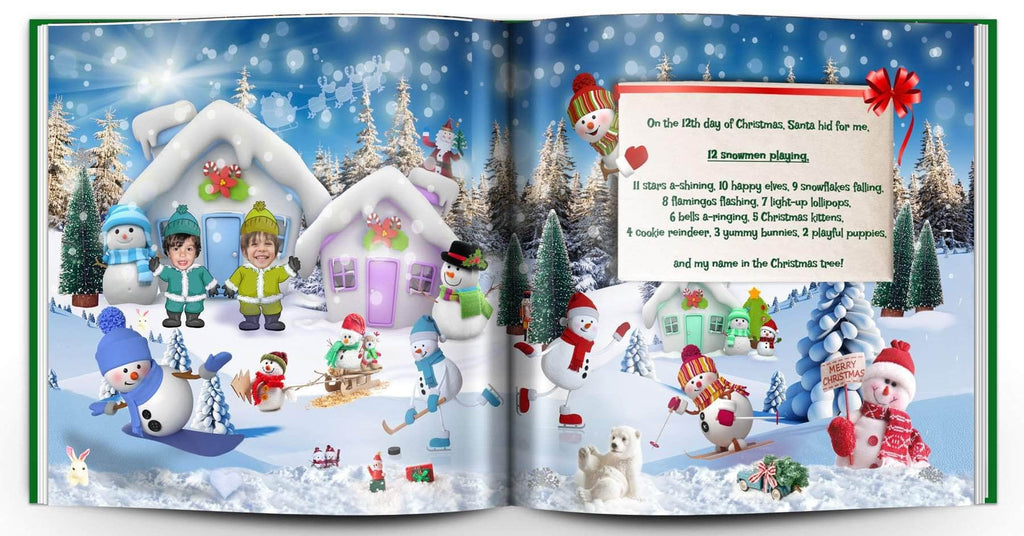 personalized christmas book with photo and name 2 kids