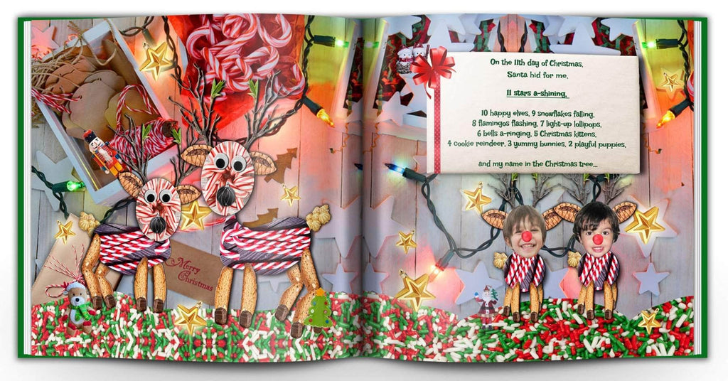christmas book personalized with photo
