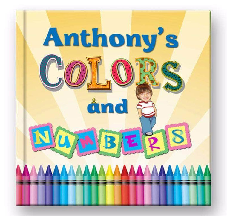 personalized children's book for kids to learn colors, boys