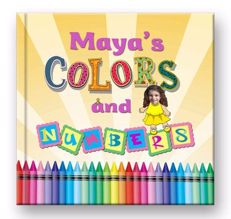 personalized children's book for kids to learn colors, girls