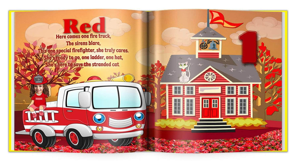 personalized children's book for kids to learn color red