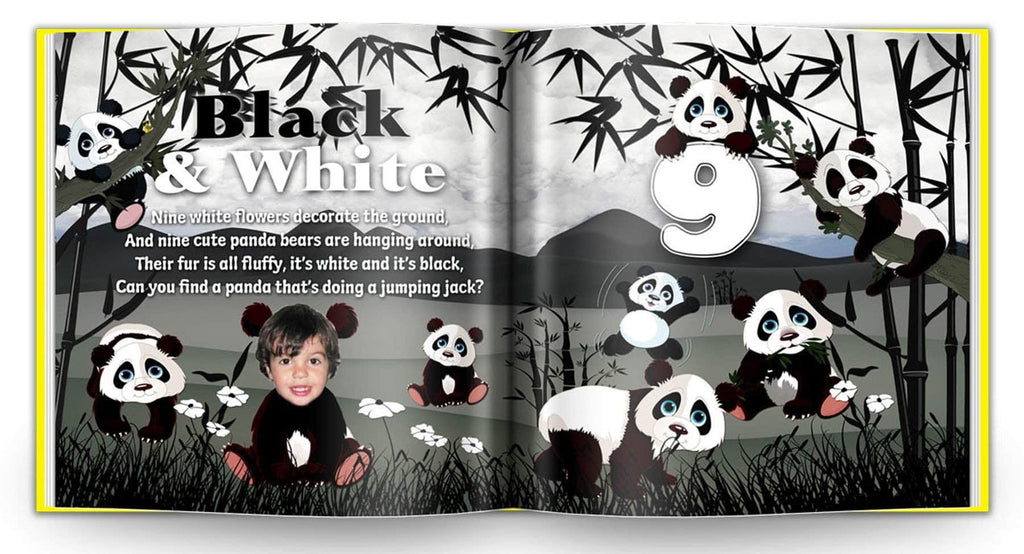 personalized children's book for kids to learn colors panda