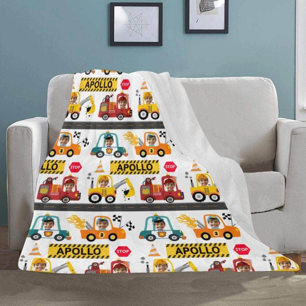 personalized blanket for toddlers cars