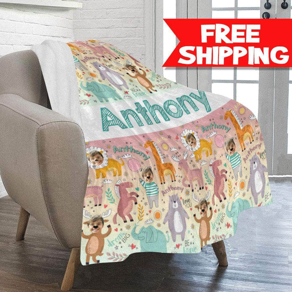 personalized blanket for kids free shipping