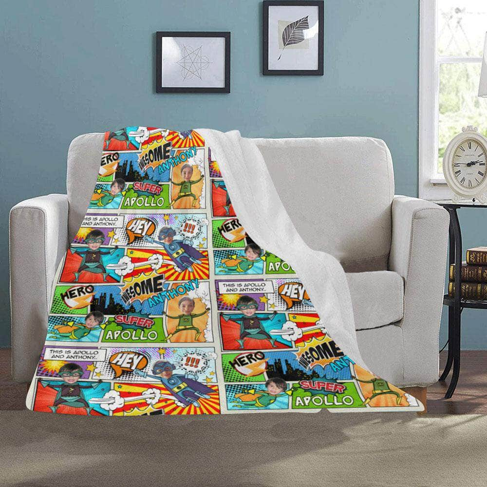 personalized blanket for 2 kids hero