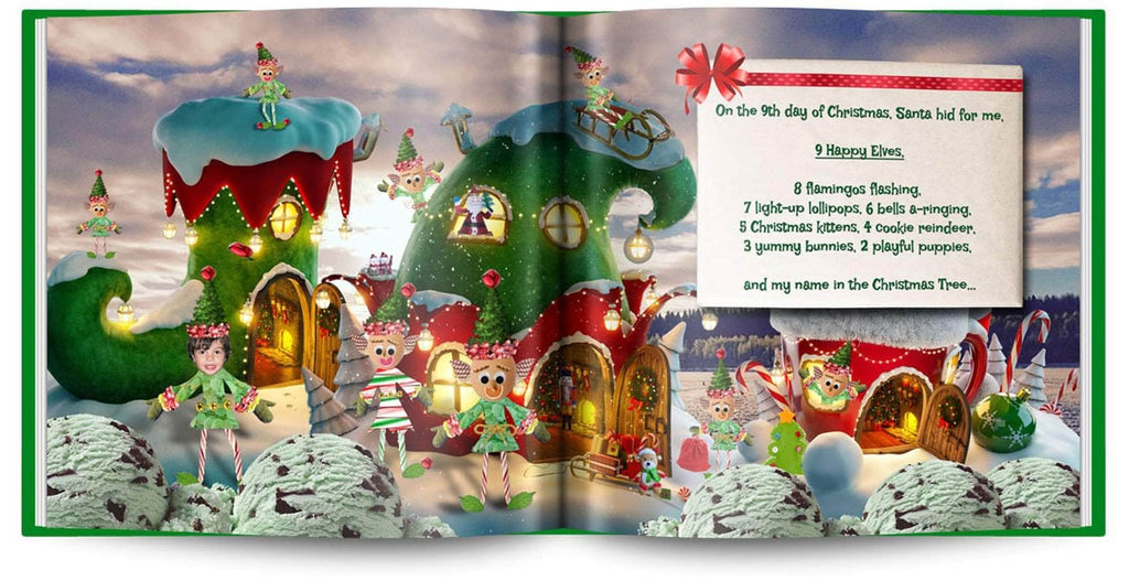 personalized christmas book with photo and name elves