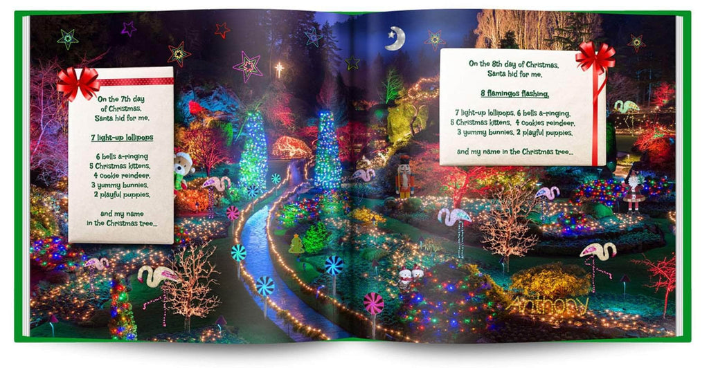 personalized christmas book with photo and name preview 3