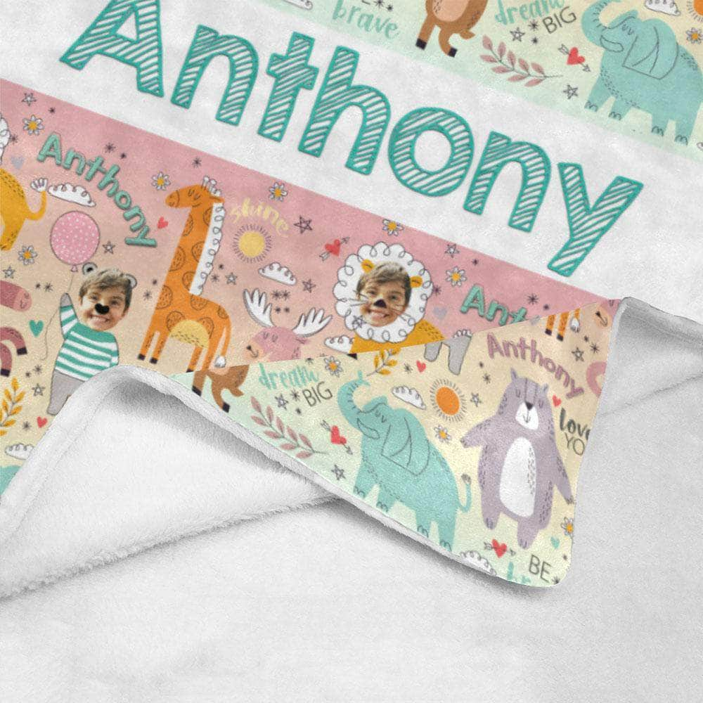 personalized blanket for kids toddlers