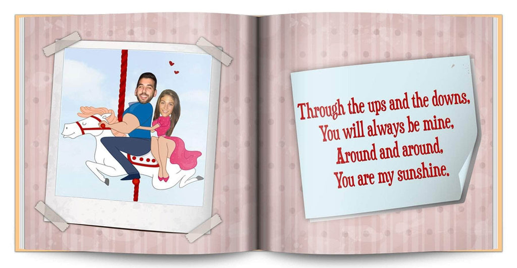 personalized love story book for anniversary gift