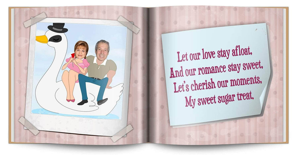 personalized love story book valentines gift