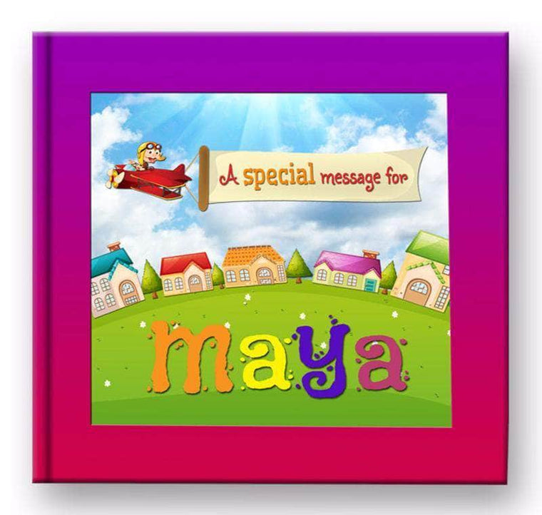 personalized name book for kids girls cover
