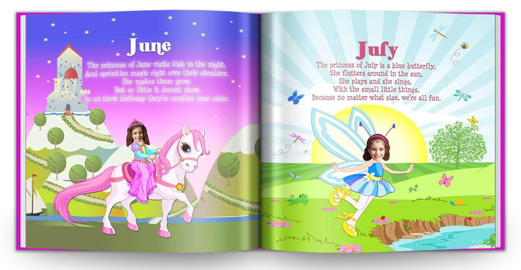 personalized princess story book for girls birthday
