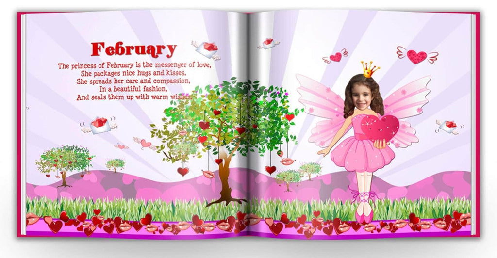 personalized princess story book for girls valentines