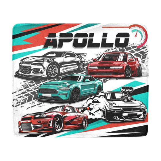 custom race cars blanket