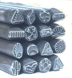 Native American, steel stamps set, tribal designs, 16 designs, smaller size, 1/4 tool shank, USA made