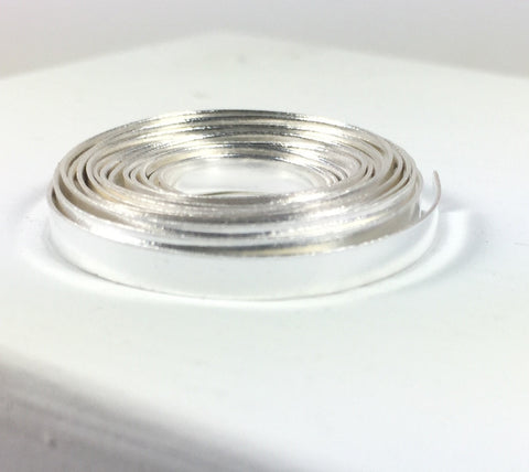 Smooth bezel wire, 3 ft Flat bezel wire, 26 ga1/8 inch, for thinner stones, fine silver, cabochon setting - Romazone