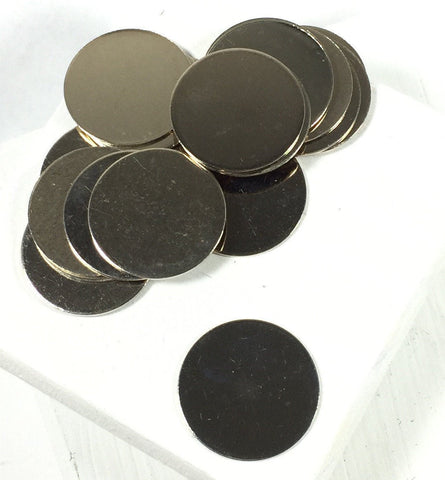 Silver Discs, 3/4 inch size, Nickel metal, 22 gauge thickness, 20 pack, silver color, great for charms, stamping blanks - Romazone
