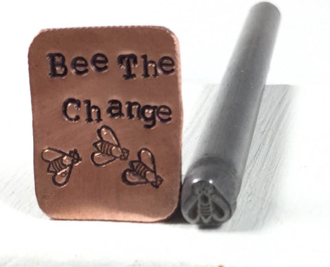 Honey Bee stamp, steel stamp, USA made, For jewelry stamping, bee conservation, bee the change - Romazone