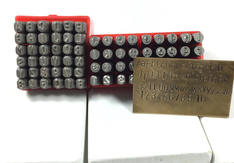Alphabet 6 Mm Stamps Both Cases 1 4 Inch Metal Stamp Set Bold Large Romazone