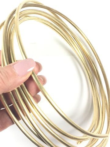 Round wire, 6 gauge Red Brass Wire, 10 ft.,  great for cuffs, tribal bracelet, gold bangles - Romazone