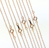minimalist chain, 14K  rosegold fill, bridesmaid gift, Rose Gold, 1.3mm hammered cable, 18 inches, spring clasp, sturdy construction, 5 pack - Romazone