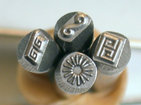 Small Greek Key Border Stamp for Jewelry Stamping on Copper, Sterling and Brass - Romazone