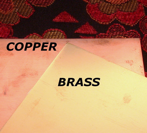 BRASS or COPPER Sheet 26 gauge 6 x 6 practice your stamping and metal working - Romazone