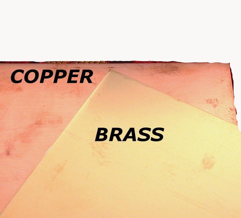 Copper sheet, 24 gauge, 6 x 6 inches, red metal, USA made, jewelry copper, home decor copper - Romazone